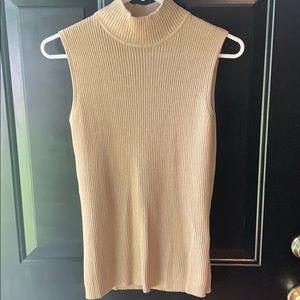 Gold sleeveless sweater